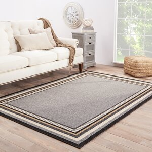 Somers Hand-Hooked Gray/Taupe Indoor/Outdoor Area Rug