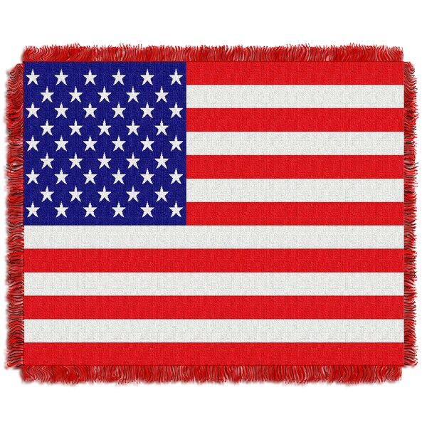 Nichol American Flag Throw by August Grove