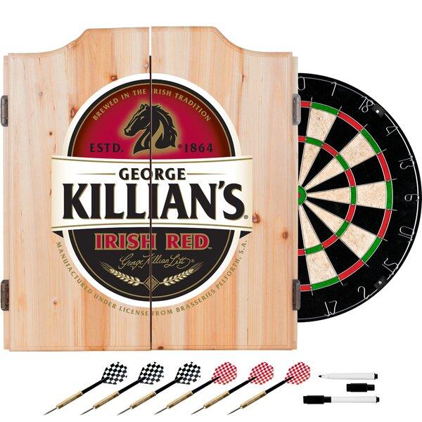 Killians Irish Red Dartboard and Cabinet Set by Trademark Global