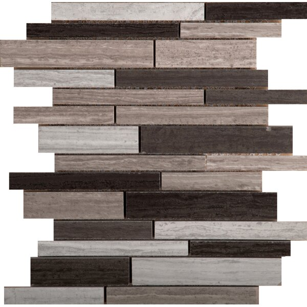 Ambiance Linear Random Sized Porcelain Mosaic Tile in Shore by Emser Tile