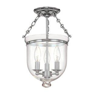 Price Check Williamsburg Hampton 3-Light Semi Flush Mount By Hudson Valley Lighting