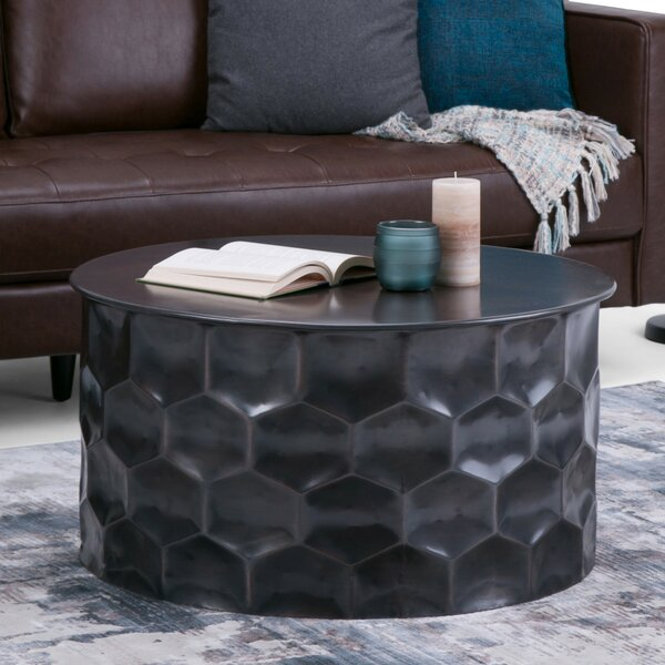 Whitney Metal Storage Coffee Table by Simpli Home