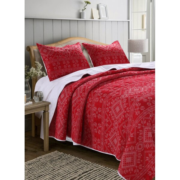 Seeman Stitch Reversible Quilt Set by Millwood Pines