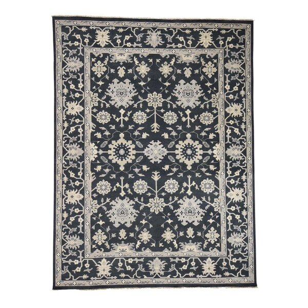 One-of-a-Kind Oritz Knot Oushak Oriental Hand-Knotted Area Rug by One Allium Way