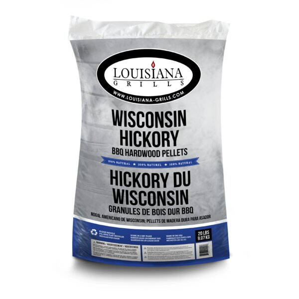 All Natural Hardwood Pellets - Wisconsin Hickory by Louisiana Grills