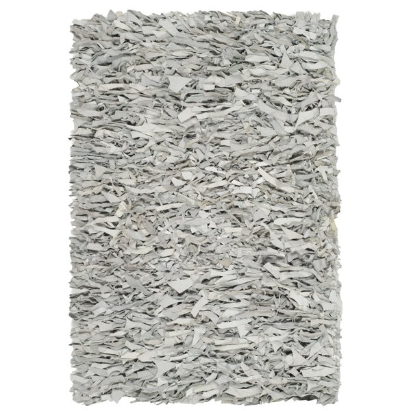 Albany Hand-Knotted Solid Gray Area Rug by Zipcode Design