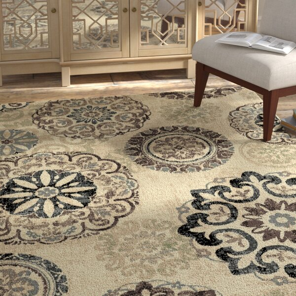 Mann Ivory Area Rug by Bungalow Rose