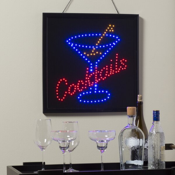Cocktails LED Sign by Ebern Designs