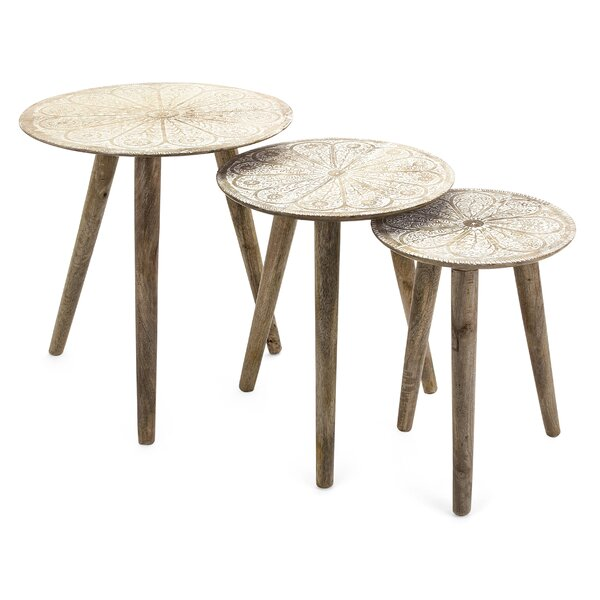 Kidder 3 Piece Nesting Tables by Bungalow Rose Bungalow Rose
