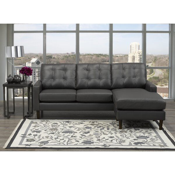 Teressa Right Hand Facing Leather Sectional By Brayden Studio