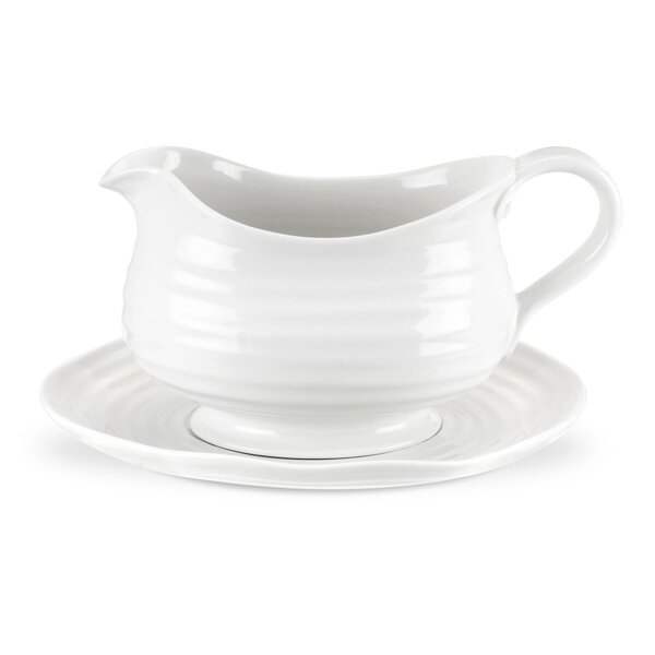 Sophie Conran White Gravy Boat by Portmeirion