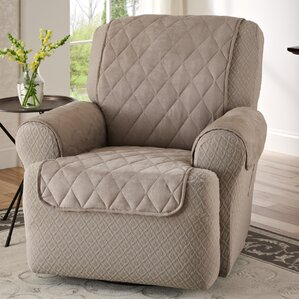Faux Suede T-Cushion Recliner Slipcover : electric recliner chair covers - islam-shia.org