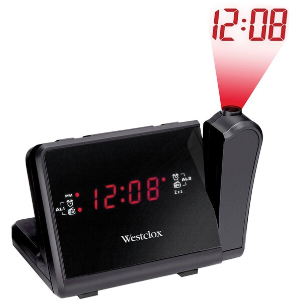 Digital LCD Projection AM/FM Tabletop Clock by Westclox Clocks