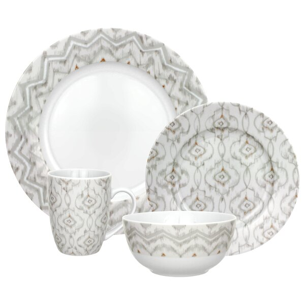 Dena Jaida 16 Piece Dinnerware Set, Service for 4 by R Squared