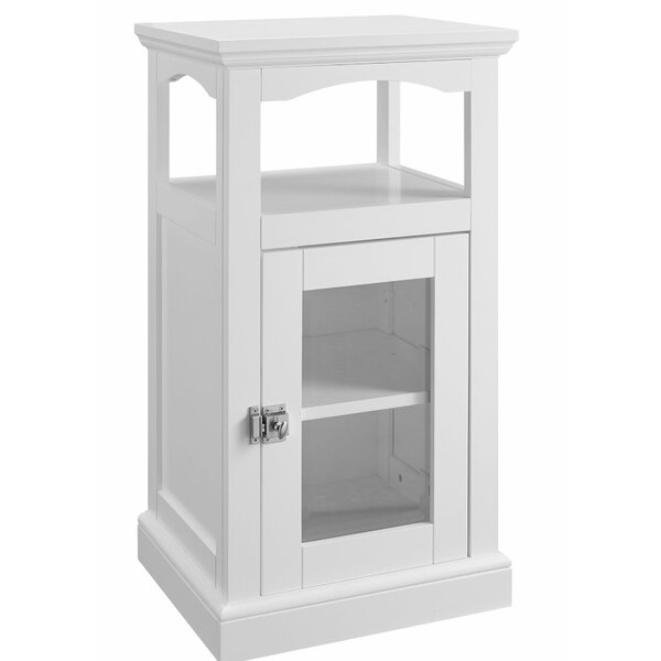 Alfonso Wood And Glass Demi Accent Cabinet By Rosecliff Heights