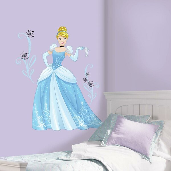 Disney Sparkling Cinderella Peel and Stick Giant Wall Decal by Room Mates