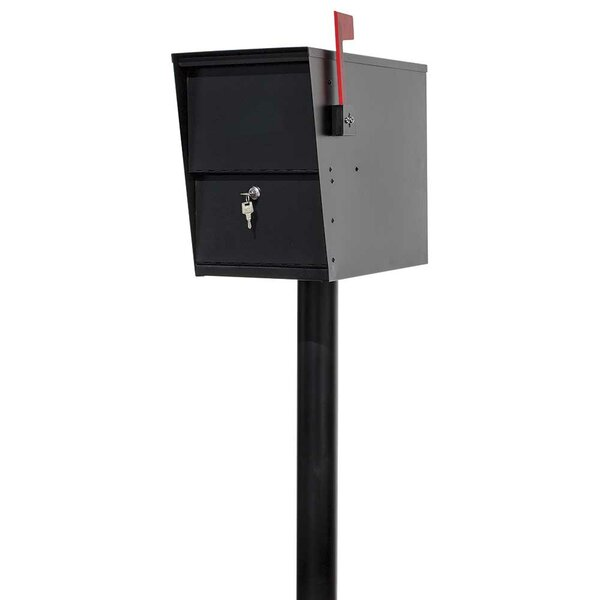 LetterSentry Locking Mailbox with Post Included by Qualarc