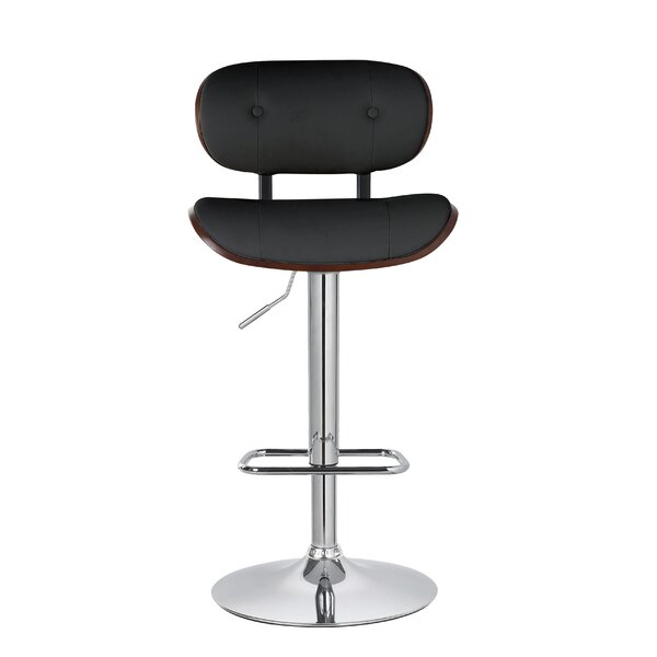 Douglas Button-Tufted Adjustable Height  Swivel Bar Stool by Corrigan Studio