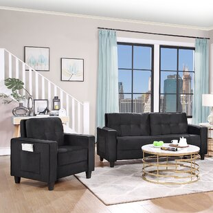 Sectional Sofa Set Morden Style Couch Furniture Upholstered Sectional Armchair, Loveseat And Three Seat For Home Or Office (1+3 Seat) by Ebern Designs