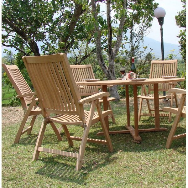 Hartfo Luxurious 5 Piece Teak Dining Set by Rosecliff Heights