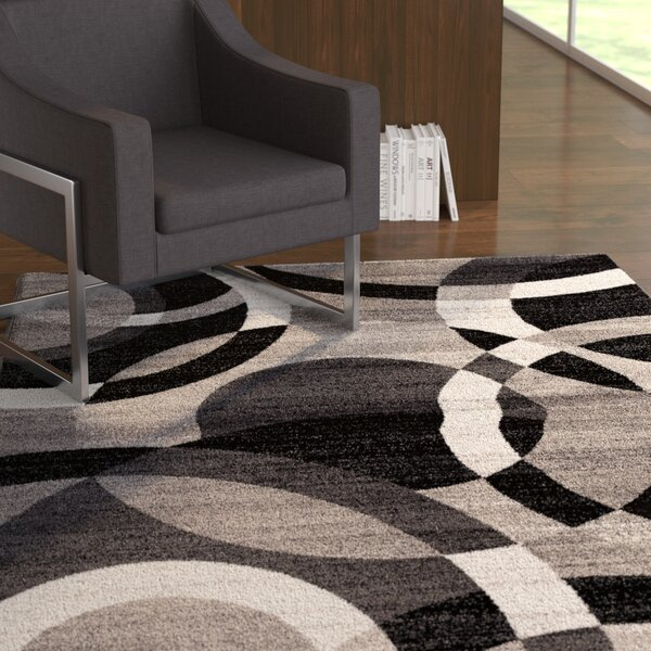 Allison Gray Area Rug by Ebern Designs