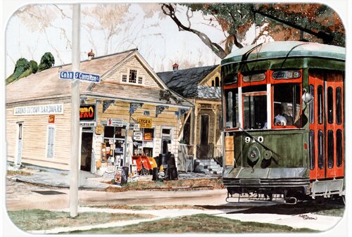 New Orleans Streetcar Kitchen/Bath Mat by Caroline's Treasures