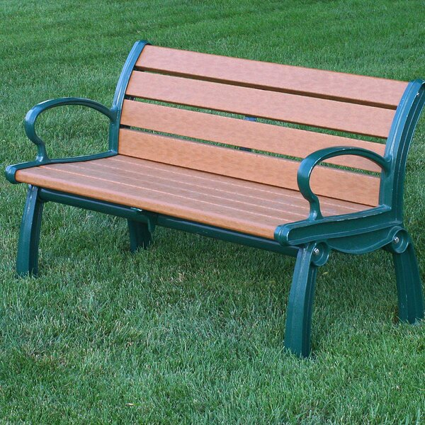 Heritage Recycled Plastic Park Bench by Frog Furnishings