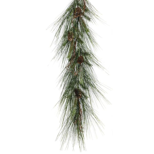 Iced Long Needle Pine Garland by The Holiday Aisle