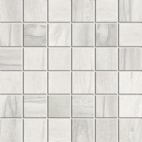 Athena 2 x 2 Porcelain Mosaic Tile in Cliff by Bedrosians