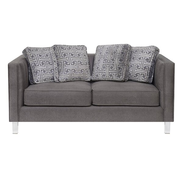 Online Shopping Cheap Fenn Channeled Loveseat by Ivy Bronx by Ivy Bronx