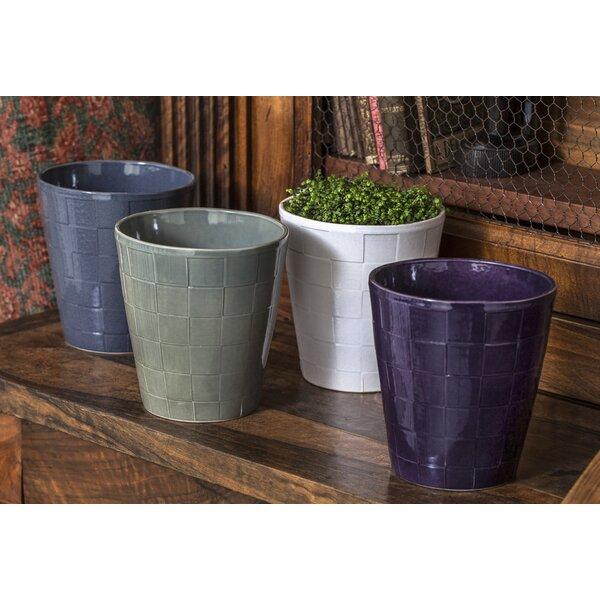 8-Piece Ceramic Pot Planter Set by Campania International