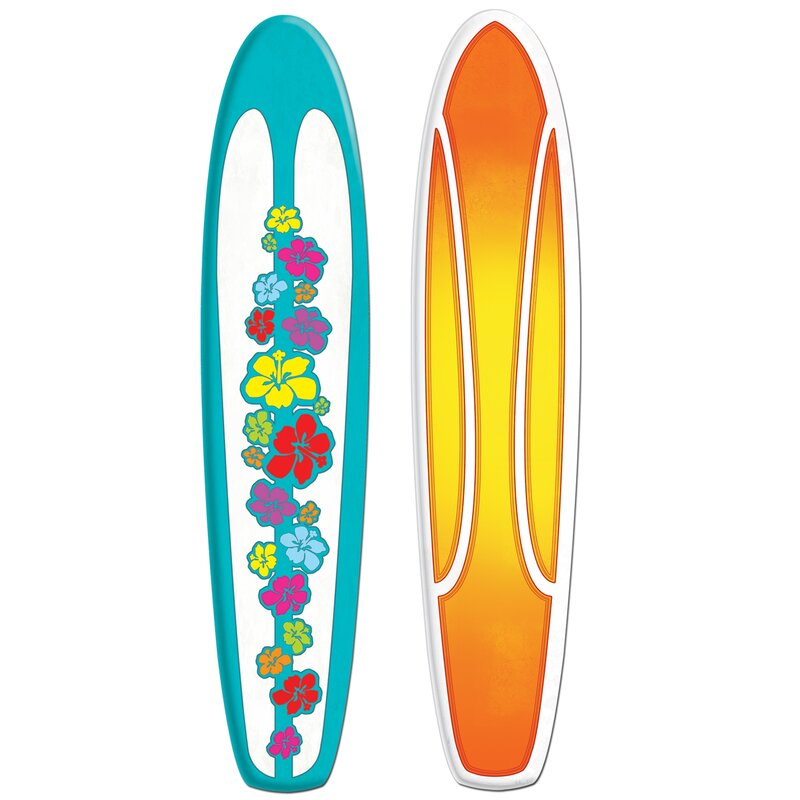 The Beistle Company Jointed Surfboard Wall Décor & Reviews | Wayfair