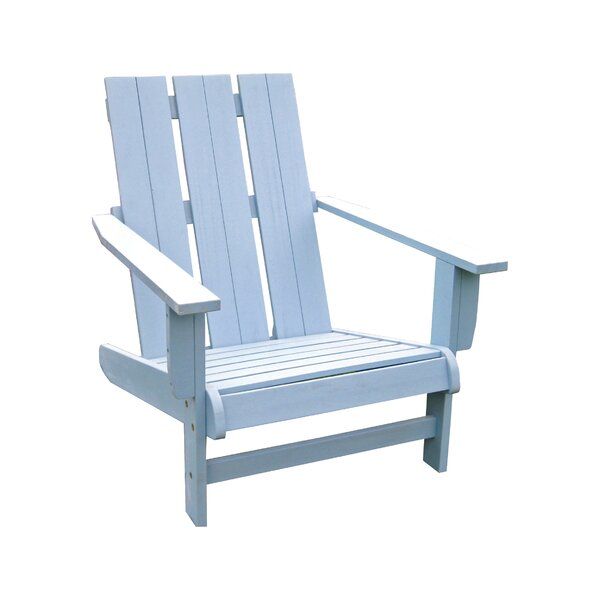 Sabbattus Solid Wood Adirondack Chair by Breakwater Bay
