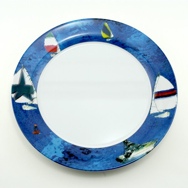 Decorated Melamine Spinnaker Non-skid Platter (Set of 2) by Galleyware Company
