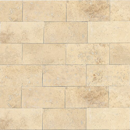 Georgia 3 x 6 Travertine Subway Tile in Mediterranean Ivory by Itona Tile