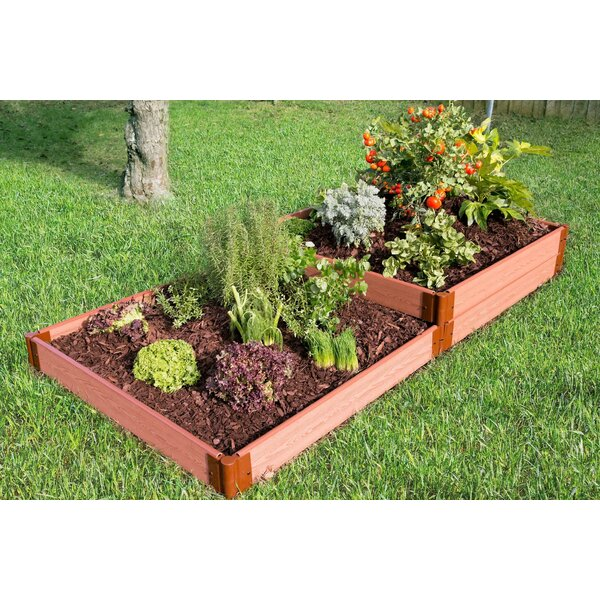Classic Sienna 8 ft x 4 ft Manufactured Wood Raised Garden by Frame It All