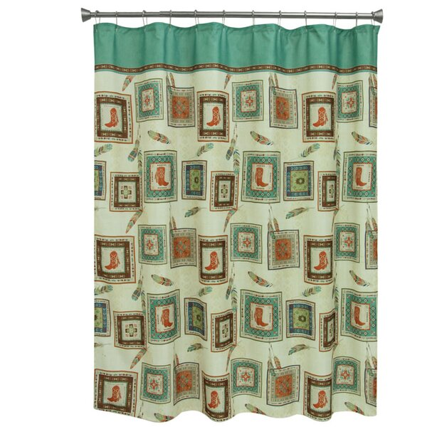 Southwest Boots Polyester Shower Curtain by Bacova Guild