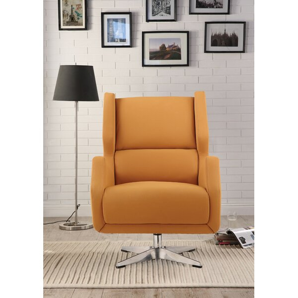Pilika Swivel Armchair by Orren Ellis