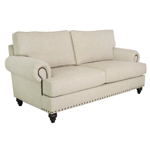 79-inch Round Arm Sofa by Edgecombe Furniture Edgecombe Furniture