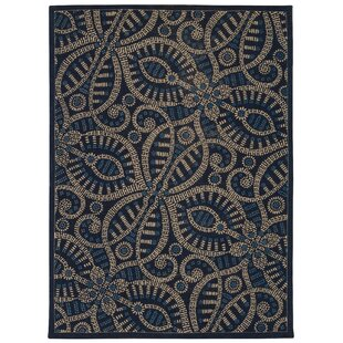 Compare Color Motion Belle of the Ball Blue/black Area Rug By Waverly