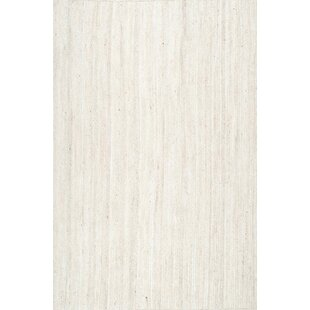 Price Check Burrillville Hand-Woven White Area Rug By Beachcrest Home