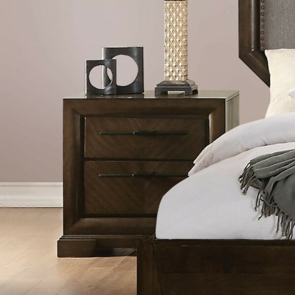 Cullompt Wood And Metal 2 Drawer Nightstand By Darby Home Co by Darby Home Co Fresh
