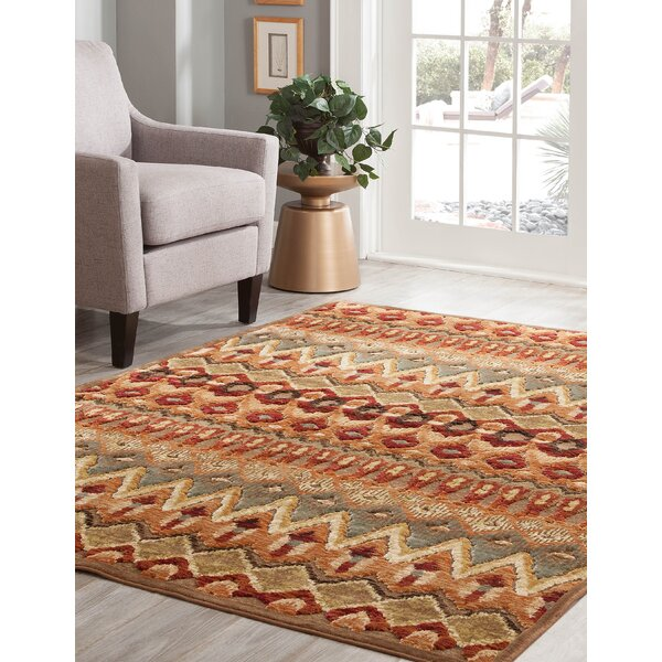 Gadson Brown/Red Area Rug by Bloomsbury Market