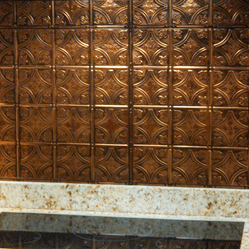 24 x 24 Metal Backsplash Panel Kit