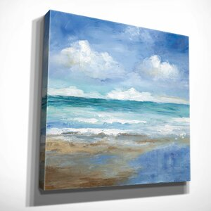 'Washy Coast II' by Nan Painting Print on Wrapped Canvas by Wexford Home