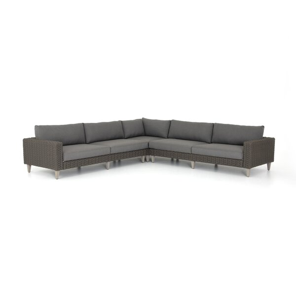 Franko Outdoor 3 Piece Sectional by Bungalow Rose