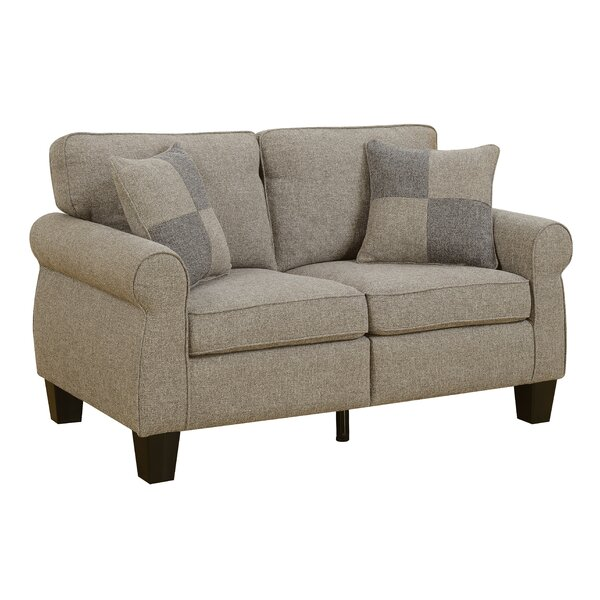 Felton Transitional Loveseat by Alcott Hill