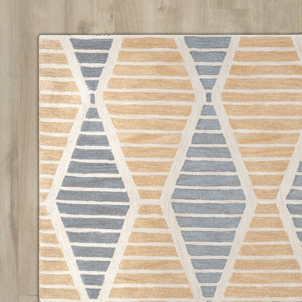 Thompkins Hand-Tufted Beige Area Rug by Brayden Studio