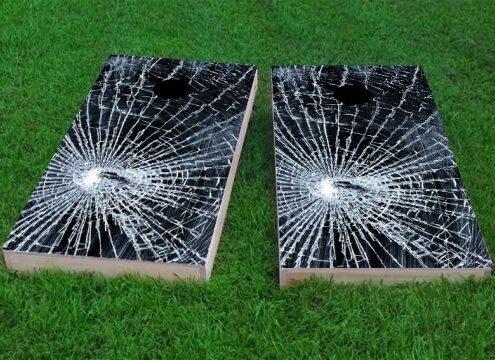 Broken Glass Cornhole Game (Set of 2) by Custom Cornhole Boards