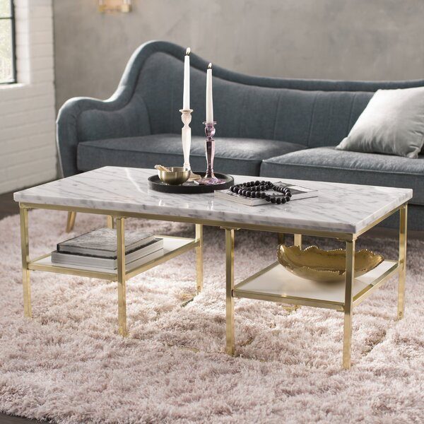 Isabelle Marble Coffee Table by Loon Peak